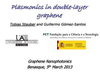 Plasmonics in double-layer graphene