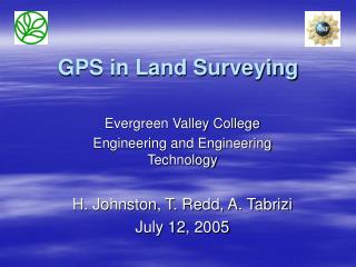 GPS in Land Surveying