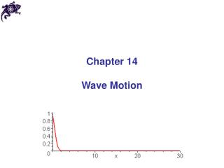 Chapter 14 Wave Motion
