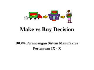 Make vs Buy Decision