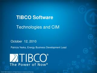TIBCO Software Technologies and CIM