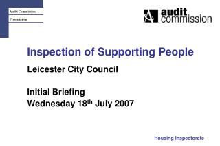 Inspection of Supporting People