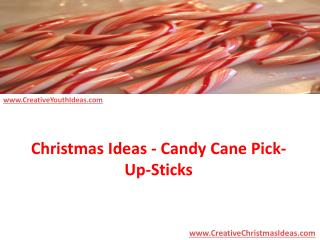 Christmas Ideas - Candy Cane Pick-Up-Sticks
