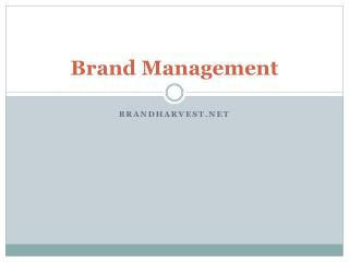 Strategic Brand Management Companies in India