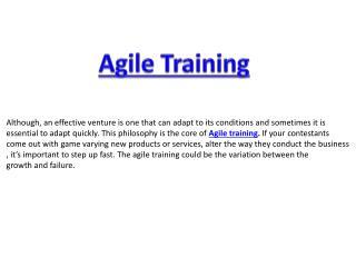 Revolutionary Agile training