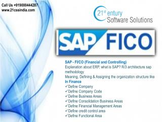 SAP FICO - 919000444287 by 21st Century Software Solutions