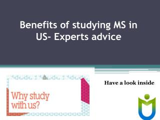 Grab the opportunity of studying MS in US