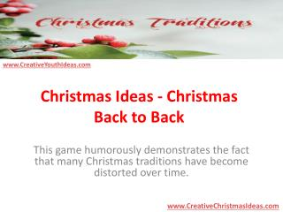 Christmas Ideas - Christmas Back to Back