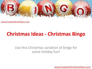 Christmas Ideas - Christmas Bingo