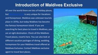 Maldives Travel and Holiday