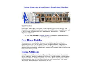 Custom Home Anne Arundel County Home Builder Maryland