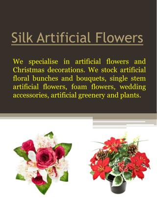 Silk Christmas Flowers