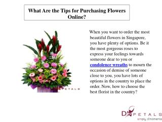 What Are the Tips for Purchasing Flowers Online?