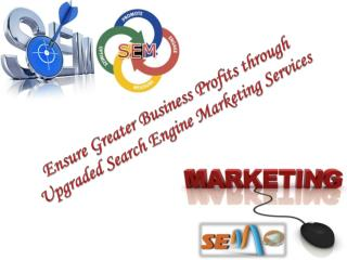 Business Profits through Upgraded Search Engine Marketing