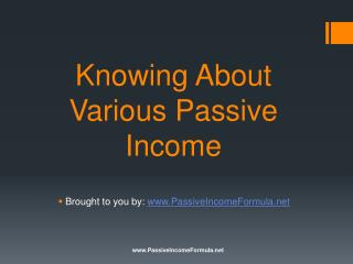 Knowing About Various Passive Income