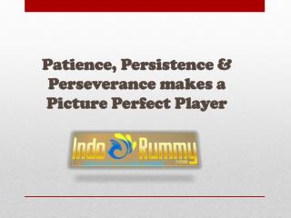 Patience, Persistence & Perseverance makes a Picture Perfect