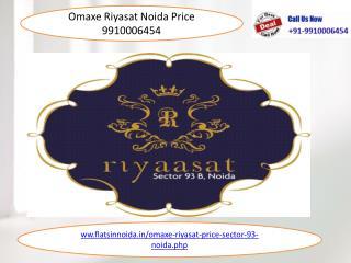 omaxe riyasat noida price resale 9910006454