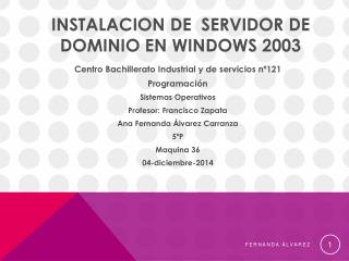 servidor de windows 2003