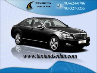 Dulles airport taxi on your mobile- Easier booking concept f