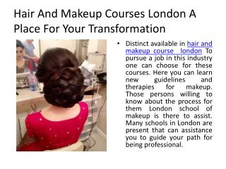 Hair and Makeup Courses London