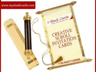 Scroll Invitation Cards