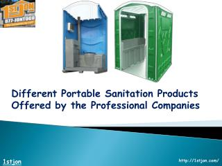 Different Portable Sanitation Products