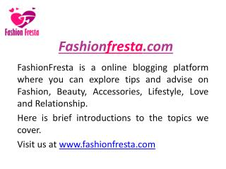 Online Fashion Blog