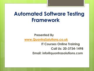 Automated Software Testing Framework Training By Quontra Sol