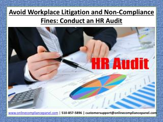 Conduct an HR Audit