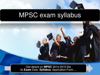 Mpsc exam syllabus