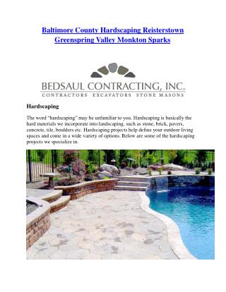 Baltimore County Hardscaping Reisterstown