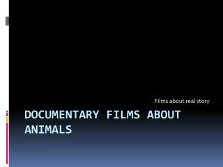 Documentary Films about Animals