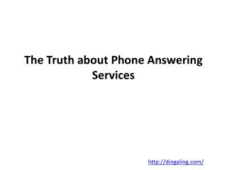 The Truth about Legal Answering Service
