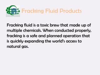 Fracking Fluid Products | InternationalPolymerics