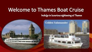 Thames Boat Cruises Offer London Party Boats for Hire