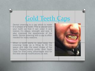 Gold Teeth Crowning