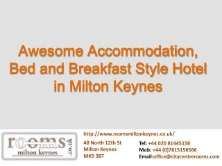 Awesome Accommodation, Bed and Breakfast Style Hotel in Milt