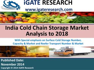 India Cold Chain Storage Market Analysis to 2018