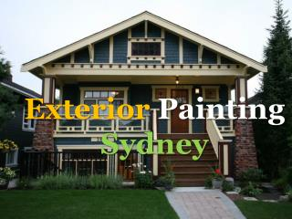 Exterior Painting Services in Sydney