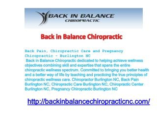 Back Pain, Chiropractic Care and Pregnancy Chiropractic - Bu