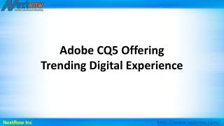 Adobe CQ5 Offering Trending Digital Experience