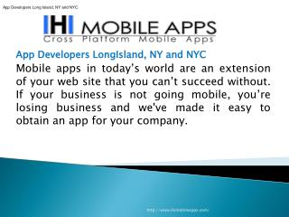 App Developers Long Island, NY and NYC