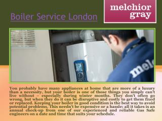 Gas Boiler Service London