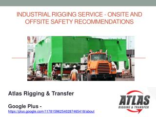Practical Rules for Industrial Riggers