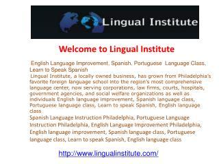 English Language Improvement, Spanish, Portuguese  Language