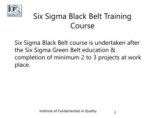 Black Belt Certification in Pune