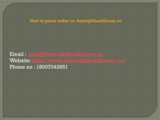 How to place order of MTP Kit on Daynighthealthcare?