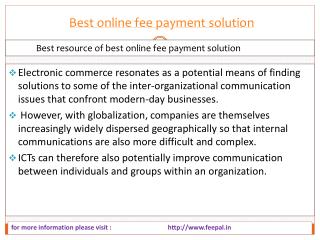Facts about best online fee payment solution