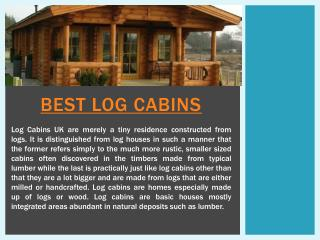 Best Log Cabins