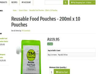 Get Reusable Pouch Australia-best food pouch provider in australia